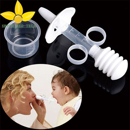Safety Needle Baby Medicine Dispenser with Silicone Nipple