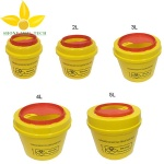 Round Plastic Medical Disposable Sharps Container, Sharps Box, Medical Disposal Bins